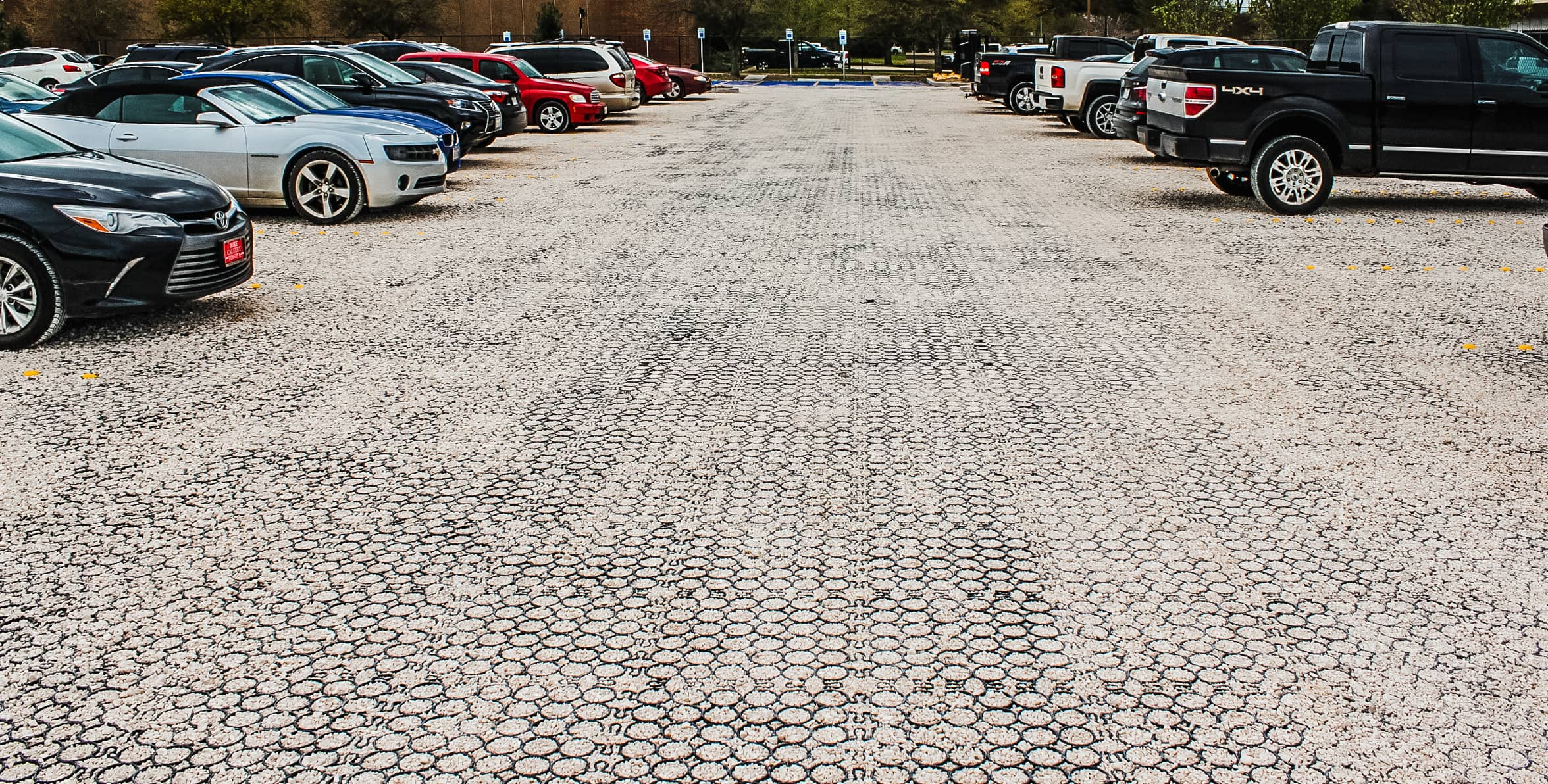 North Houston Bike Park parking lots completed - TRUEGRID Pavers